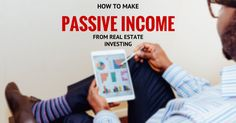 Passive income real estate investment is a great way to make money work for you. Rental property provides returns 3 ways: equity, cash flow & tax benefits.