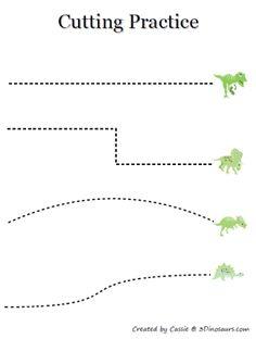 dinosaur cutting activity
