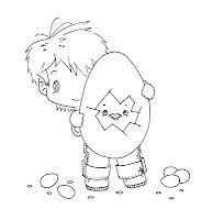 Freebie: Boy with Easter Egg Digi Stamp · Stamping | CraftGossip.com