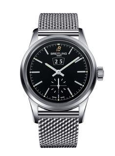Mit derBreitling Transocean 38 bekommt die puristische Transocean Kollektion überausraffinierten Zuwachs. Die klassische Armbanduhr wirddurch ihre liebevollen Details zu einem ganz besonderen St...