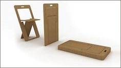 Sheetseat, made from a single sheet of plywood, designed in 2009 by Kutuk and Keskin
