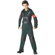 Child Terminator Deluxe John Connor Costume Rubies 883582, Boy's, Size: Large, Green