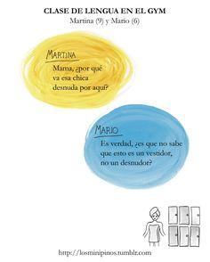 #losminipinos #esterytelling #niños #padres #madre #hijos #humor #frasesdeniños #frases #gym #vestuario