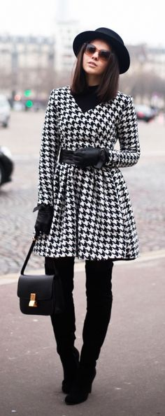 #fall #fashion / houndstooth