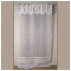 rideau blanc d coration au charme d 39 autrefois largeur 45cm stores blancs rideaux stores et. Black Bedroom Furniture Sets. Home Design Ideas