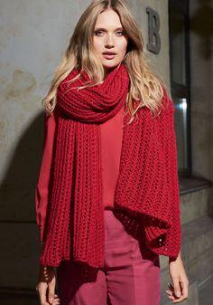 Lana Grossa GROSSZÜGIGE STOLA Cool Wool Big/Silkhair - FILATI Accessoires No. 16 - Modell 35   FILATI.cc WebShop