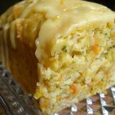 Orange Zucchini Bread with 1/3 cup oil & 1 cup applesauce or egg substitute & nuts