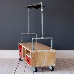 rolling storage bin.