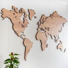 Wooden World Map Wall Art - Bamboo Wall Art world map wall art World Map Wall Decor, Wood World Map, 3d Wall Decor, World Map Wall Art, Wooden Wall Decor, 3d Wall Art, Wall Maps, Unique Wall Decor, Wall Décor