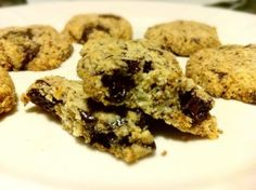 Honey Sweetened Almond Flour Chocolate Chip Cookies (Grain/Dairy/Egg/Refined sugar Free)