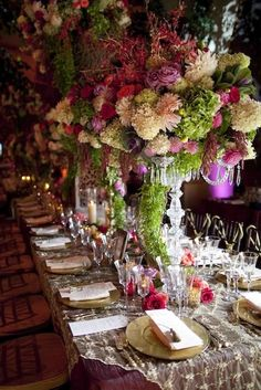centerpieces from a wedding by david tutera