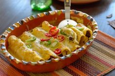 Butternut Squash and Salsa Verde Enchiladas