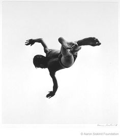Use of negative space. Terrors and Pleasures of Levitation, No. 37. 1953. Photo by Aaron Siskind. Check out the full Divers' series here: http://www.aaronsiskind.org/gal0804.html