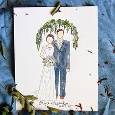 Custom Family Portrait - Custom Illustration - Watercolor Portrait - Customized Art