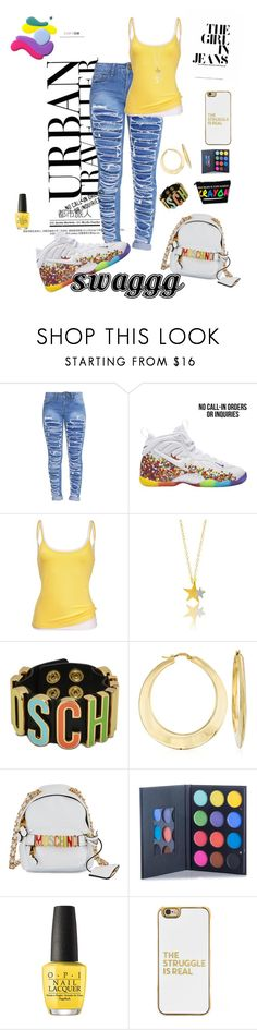 """""""Untitled #77"""" by jus2damnsxc on Polyvore featuring NIKE, Moschino, Ross-Simons, OPI and BaubleBar"""
