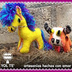 Muñecos de lana hechos a mano. Artesanía. Chiapaneca.  Bolos. Niños. Peluches.  www.yolte.com.mx