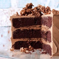 This chocolate cake has no outer frosting, but the filling is so rich you won't miss it. Chopping the pecans finely helps keep the layers even when frosted.