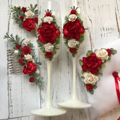 Свадебные бокалы - купить или заказать в интернет-магазине на Ярмарке Мастеров - EN3GDRU | Свадебные бокалы. Возможно изготовление…