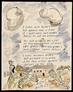 Citation: I LOVE MRS BUBBY, 1943 . Waldo Peirce letters, Archives of American Art, Smithsonian Institution.