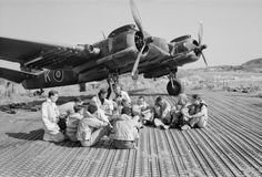 Aircrew of No. 16 Squadron SAAF and No. 227 Squadron RAF sitting in front of a Bristol Beaufighter at Biferno, Italy, prior to taking off to attack a German headquarters building in Dubrovnik, Yugoslavia, 14 August 1944 Passenger Aircraft, Ww2 Aircraft, Fighter Aircraft, Military Aircraft, Fighter Jets, Bristol Beaufighter, Avro Shackleton, South East Europe, South African Air Force