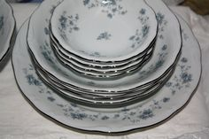 "Johann Haviland ""Blue Garland"" 29 Piece Dinner Service"