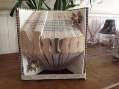Book Folding Pattern for Mum  FREE TUTORIAL by BookFoldingForever                                                                                                                                                                                 More