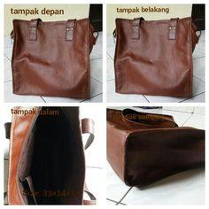 Brown tote bags