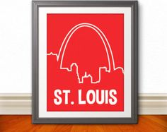STL Love St Louis Heart Print Saint Louis St by BentonParkPrints