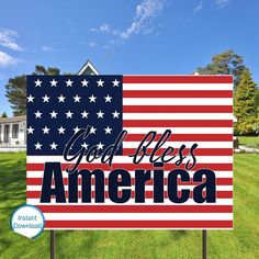 4th of July Yard Sign God Bless America Yard Signs Pray For   Etsy#4th #america #bless #etsy #god #july #pray #sign #signs #yard Outdoor Signage, Outdoor Venues, Pray For America, God Bless America, Family Presents, Wedding Shower Games, Lawn Sign, Invitation Set, Box Design