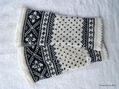 Filharmonicas kreative verden: Strikkedilla! Mittens, Knit Crochet, Embroidery, Knitting, Needlework, Tricot, Fingerless Mittens, Crochet, Stricken