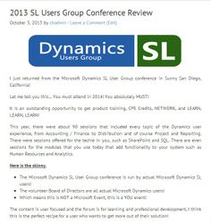 2013 Microsoft SL Users Group Conference Review