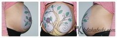 Collage Belly painting by Lola Kabuki. #painting #belly #pregnancy #pinturas #embarazo