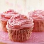 Sparkling Strawberry Champagne Cupcakes      1 box Betty Crocker® SuperMoist® strawberry cake mix     1 1/4 cups champagne, (I used a Red Sparkling Wine - Cinzano Brachetto d'Acqui) it will compliment the fruity strawberry flavor.     1/3 cup vegetable oil     3 egg whites