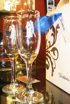 Imadeco copas de vino grabadas con dise o de corazon for Copas de champagne