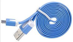 "myLife Light Aegean Blue {Reliable Flat Noodle Design} 6' Feet (1.8 Meter) Quick Charge USB 2.0 Micro USB to USB Data Sync Cord for Phones, Cameras, Tablets and GPS Devices ""SEE COMPATIBILITY"" (Durable Rubber Coat) myLife Brand Products http://www.amazon.com/dp/B00NX3LQ86/ref=cm_sw_r_pi_dp_XQ9tub0H71KX9"