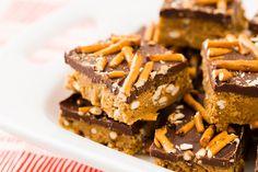 No-Bake Peanut Butter Pretzel Bars.