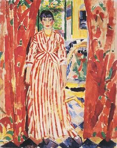 Les rideaux rouges (The Red Curtains), 1913 (Summer) Rik Wouters