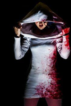 Adult Halloween Costume Blood Splatter Dress by KMKDesignsllc