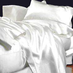 white satin/ new bedding