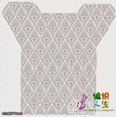 Crochet Edging Patterns, Crochet Cardigan Pattern, Crochet Diagram, Crochet Chart, Filet Crochet, Crochet Motif, Diy Crochet Shorts, Diy Crafts Crochet, Crochet Clothes