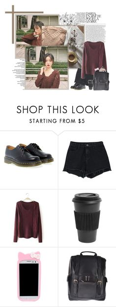 """""""- aa entertainment audition"""" by kwon-suyeon ❤ liked on Polyvore featuring Reverie, Dr. Martens, Homage, Samsung and Andrew Philips"""