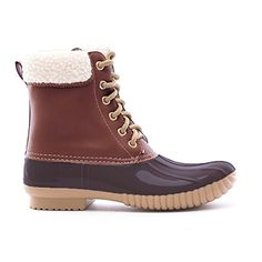 Soho Shoes Womens Leatherette MidCalf Fleece Lined Duck Boots 9 COGNAC *** Continue to the product at the image link.