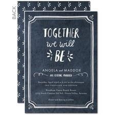 Chalked Together Wedding Cards