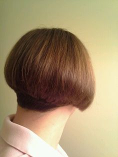 Beautiful stacked inverted bob hairstyle.