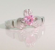 pink claddagh ring i ordered today too :) Claddagh Rings, Diamond Are A Girls Best Friend, Make Me Smile, Heart Ring, Diamonds, Jewellery, Engagement Rings, Pink, Enagement Rings