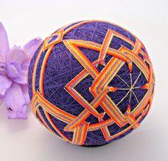 Arabesque Japanese Temari Ball by SpotsandDotsDesign on Etsy, $45.00