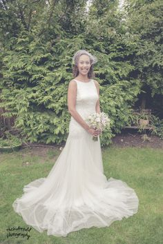 Bride fitted in her dress