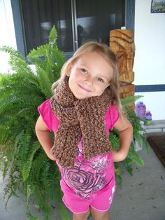Handmade Knit Scarf Chocolate Brown Womens Girls Warm Winter Accessory Extra Long Scarf