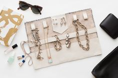 Pack All Your Favorite Pieces in This DIY Travel Jewelry Roll | Brit + Co