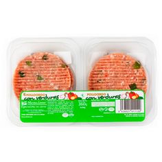hamburguesas pollo cerdo con verduras mercadona, 3pp